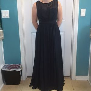 Size 4 Jenny Yoo Navy Blue Formal Dress